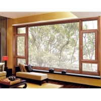 堅美鋁材108120斷橋平開窗廠家直銷批發價