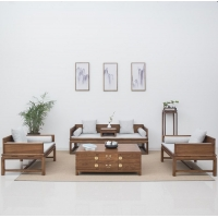 成都实木家具 中式家具 新中式家具 卧房家具系列 宏森古典家