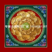 古建彩绘吊顶 寺院寺庙天花板装饰