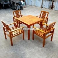 栖尔供应户外休闲桌椅 室内休闲实木桌椅 可定制