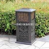 户外铸铝垃圾桶 小区广场公园景区垃圾桶