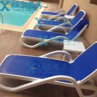 供应塑料沙滩椅 白色休闲沙滩躺椅 户外沙滩椅