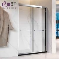 恋木淋浴房PLB5704S屏风移门两活不锈钢钢化玻璃淋浴房