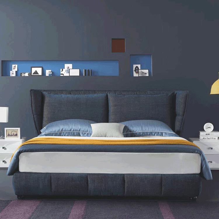 哥斯拉布艺床B03