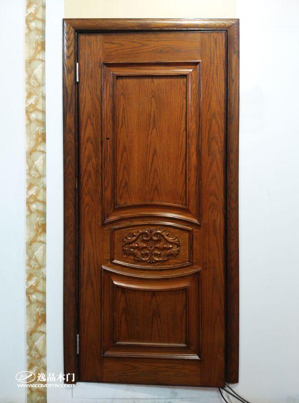 重庆逸品木门红橡木皮木门展示