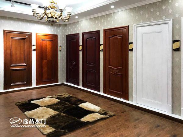重庆逸品木门木门展厅 白色 简约风格木门展示 新品木门