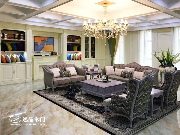 重庆逸品木门整装展示 客厅