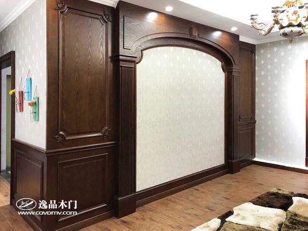 重庆逸品木门:电视背景墙展示