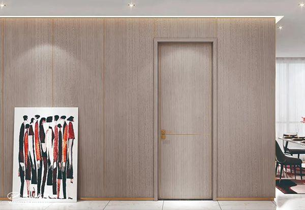 重庆逸品木门:金属线条 木门场景图