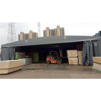 镇江推拉雨棚活动雨篷移动雨蓬大排档雨棚厂房工地