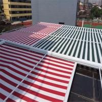 廊坊阳光房户外室外顶棚遮光天幕电动双轨道伸缩式天幕遮阳棚雨篷