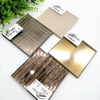 专业定制工艺夹丝玻璃  背景墙简约夹胶玻璃