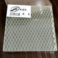 廣東藝術玻璃廠條紋雕花玻璃工藝車刻豎條夾絲玻璃隔斷