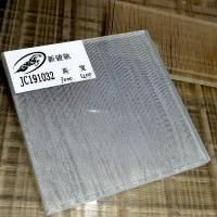 啞光夾絲玻璃蒙砂線條茶玻夾絹玻璃透光夾絲工藝玻璃