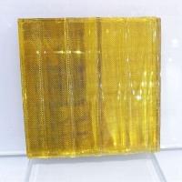 透明玻璃隔斷夾絲玻璃隔斷白色線條夾絲玻璃工藝夾絹