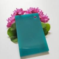 亚克力有机玻璃草绿色不透明整板塑料板材加工定制折弯12358