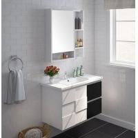 九牧橡胶木黑白浴室柜组合洗脸盆洗漱台洗手池A2181多规格