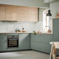 森眸暖光-原野绿厨房橱柜组合