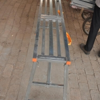 马凳折叠升降脚手架刮腻子室内装修加厚便携伸缩工程梯子平台凳