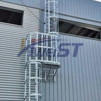 廠家直銷鋁合金護籠爬梯  護籠直梯