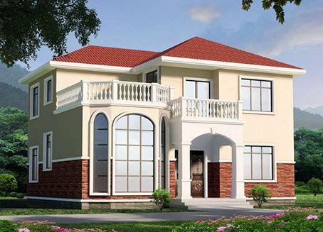乡村自建别墅,新中式二层别墅,农村轻钢房屋