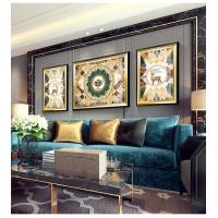 重慶渝北格林牧狼軟裝客廳沙發背景墻三聯畫