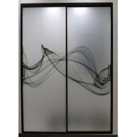 艺术夹画玻璃,窄边框,极简推拉门