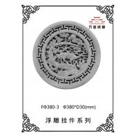 河南影壁墙圆形砖雕价格之松鹤延年砖雕价格咨询