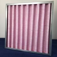 德州精久中效板式空氣過濾網F7鋁框無紡布中效過濾器
