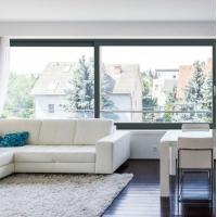 实力厂家出口德国品质现代室内客厅防水铝合金推拉窗