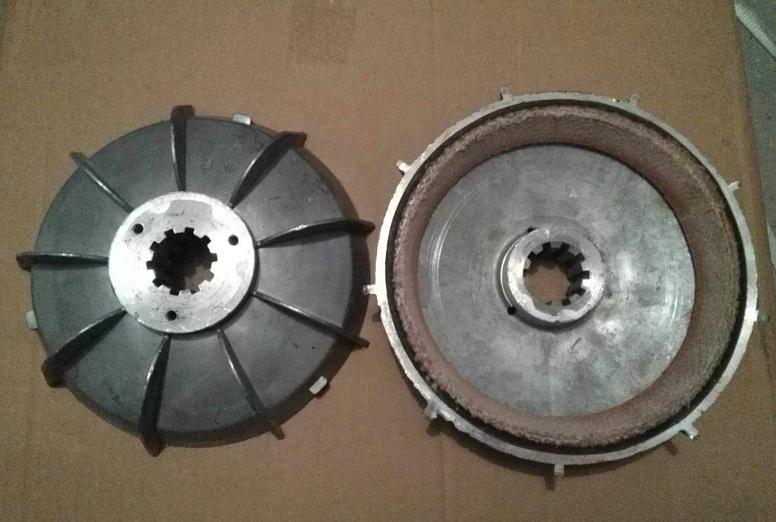 搅拌机上料斗提升电机刹车盘 电机刹车风叶制动轮