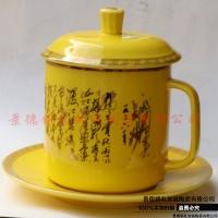 景式杯陶瓷白胎盛隆杯厂家批发加logo定制