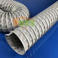 耐高温伸缩软管 阻燃耐高温可伸缩风管  防火排烟排