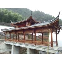 重庆碳化木长廊防腐木长廊树脂瓦长廊施工