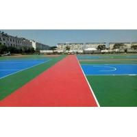 硅PU球場 環保材料 學校籃球場網球場運動塑膠跑道施工地億建