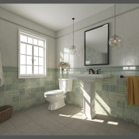 箭牌瓷砖 300x300瓷片玛塔系列 AD30217 苏打绿
