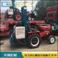华豫拖拉机改装液压打井机 桩基降水井钻机