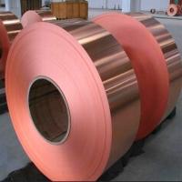 T2半硬镜面紫铜带 红铜卷料 单面抛光贴膜紫铜带可定做