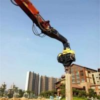 卡特345大型打樁機 鋼板樁基 仿木裝機13米打樁機