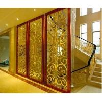 现代铜屏风铝屏风