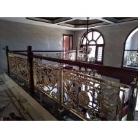 铜艺护栏_扶手楼_梯_平面镂空_简单铝楼梯直销包安装测量