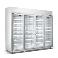 超市冷藏柜饮料冰柜组合岛柜卧式冰柜风幕柜水果保鲜柜