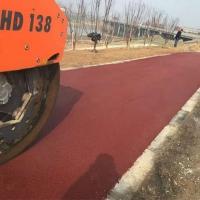 红色沥青路面价格 彩色沥青色粉 沥青路面专用铁红