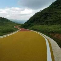 彩色沥青用黄粉 黄色沥青路面价格 彩色沥青施工