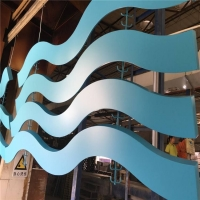 背景墙造型木纹弧形铝方通吊顶异形铝方通定制国景