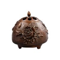 匠铜仿古纯铜香炉 富贵香薰线香盘香家用室内香炉檀香炉