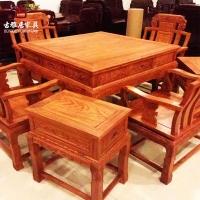 成都中式家具中式八仙桌贵妃榻家具定制加工