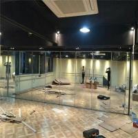 惠州舞蹈室玻璃移動屏風隔斷移門工廠