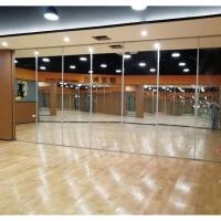 惠州舞蹈室吊折玻璃隔断平移推拉门加工厂家