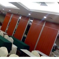 深圳會議室滑輪折疊隔斷推拉屏風門設計上門安裝